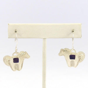 Sugilite Horse Earrings