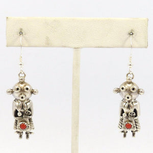 Coral Mudhead Earrings, Toby Henderson, Jewelry, Garland's Indian Jewelry