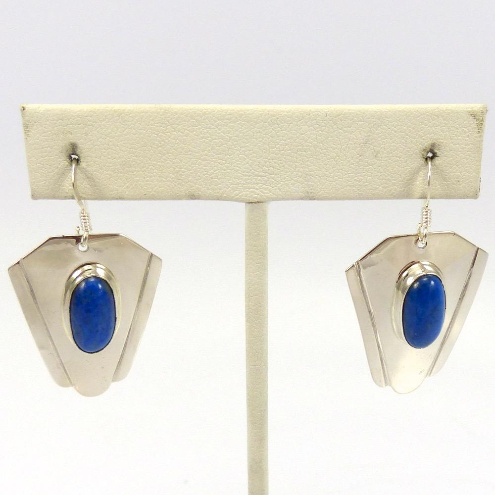 yellowhorse jewelry earrings indian artist artie ntive lapis american sterling product navajo silver by dangling smaller