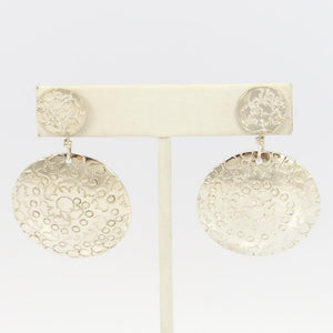 Stamped Silver Earrings