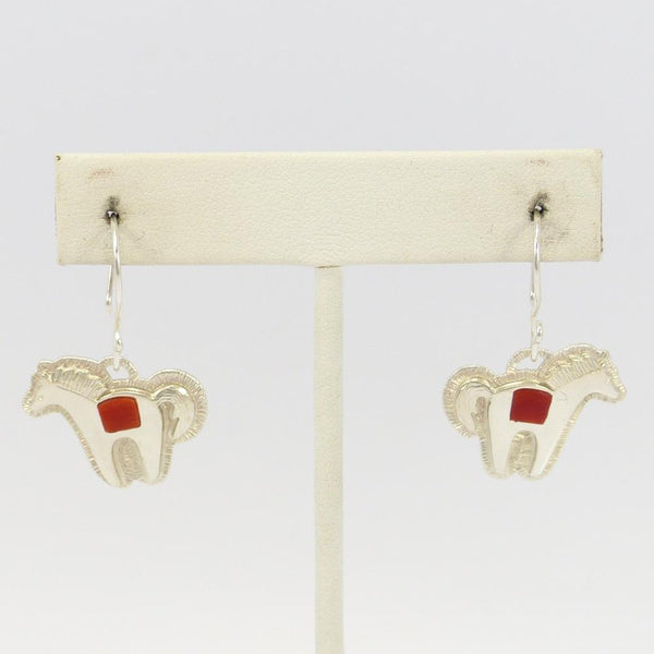 Coral Horse Earrings