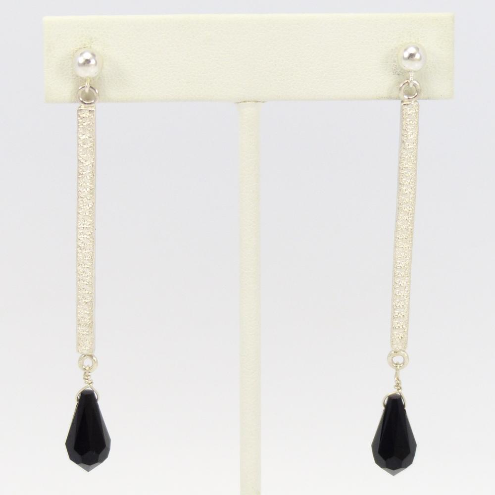 shop silver mary and earrings eagle onyx gallery long teller everett