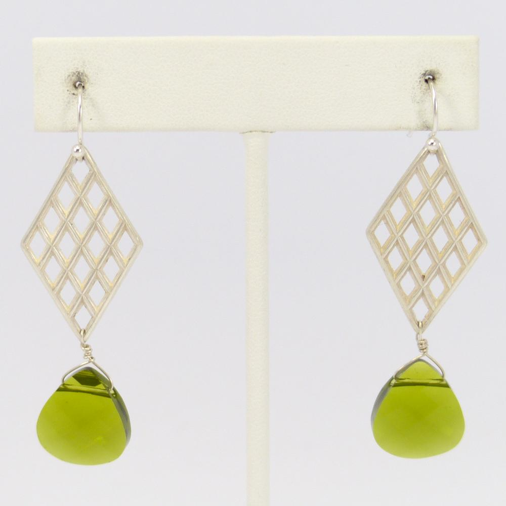 m sterling p pear earrings bezel co shane stud in shaped silver peridot fashion set