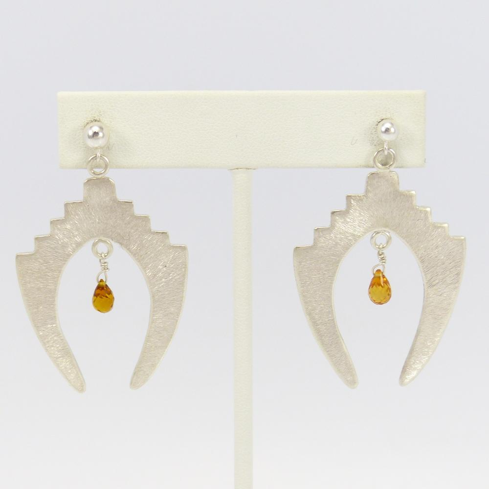 orange earring te citrine products earrings c set pc white sapphire yellow paolo hook in and very costagli top gold pd diamond pendants with grande