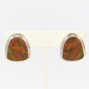 Jasper Clip Earrings
