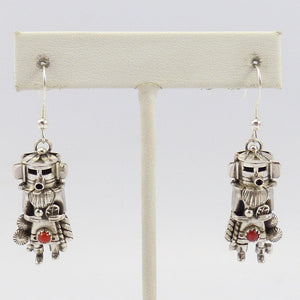 Yei Earrings with Coral