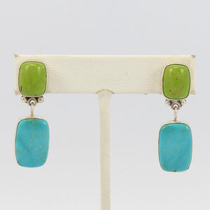 Turquoise and Gaspeite Earrings