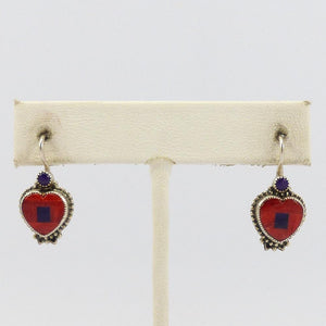 Inlaid Heart Earrings