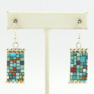 """Stained Glass"" Inlay Earrings"