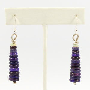 Sugilite and Opal Bead Earrings