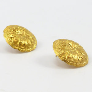Stamped Gold Earrings