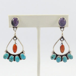 Multi-Color Dangle Earrings