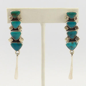 Blue Gem Turquoise Earrings