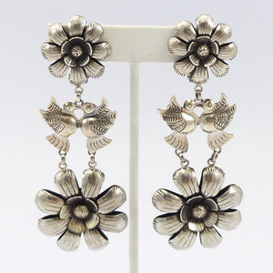 Love Bird Floral Earrings