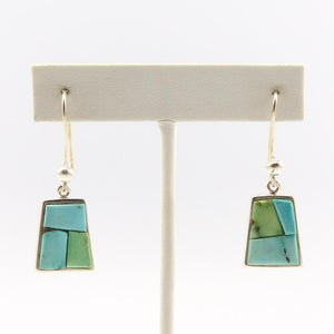 August Blue Turquoise Earrings