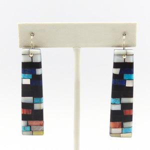 Inlay on Jet Earrings