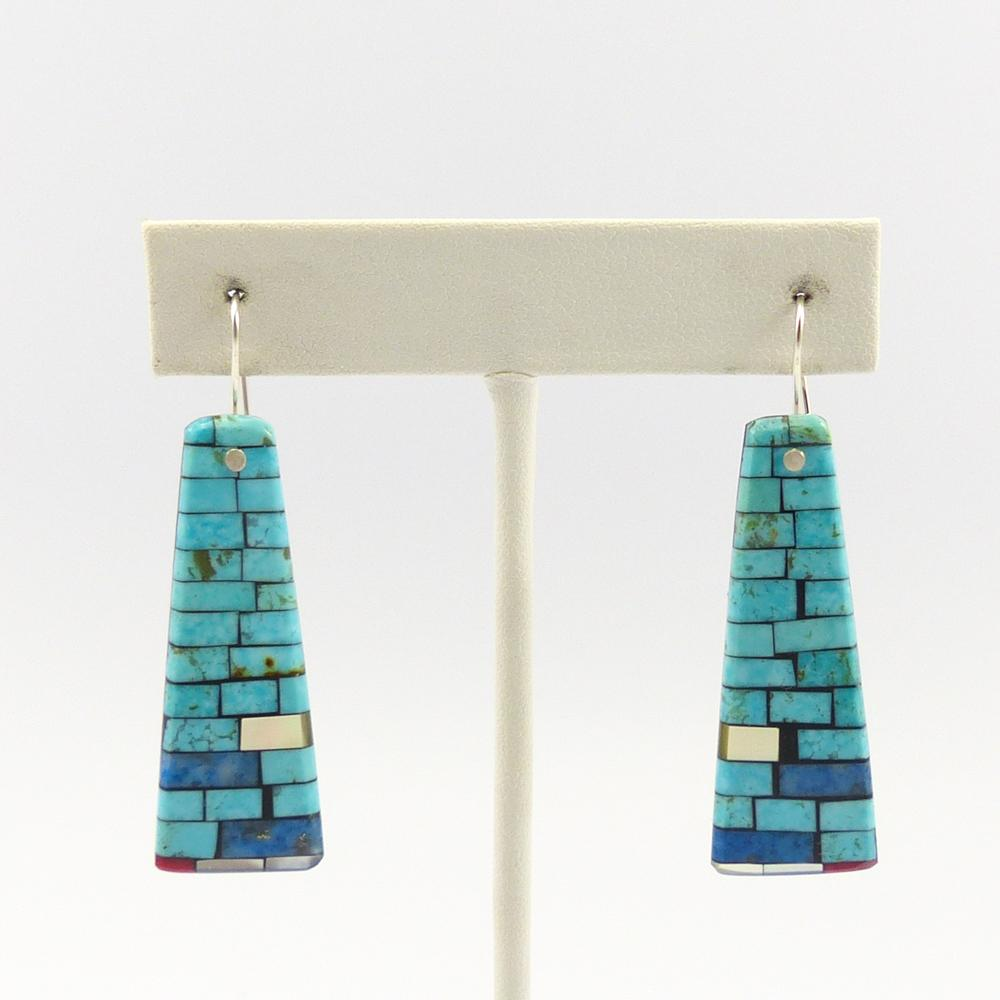 Inlay on Shell Earrings