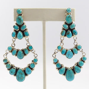 Cluster Turquoise Earrings