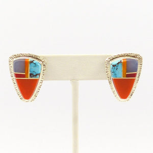 Channel Inlay Earrings