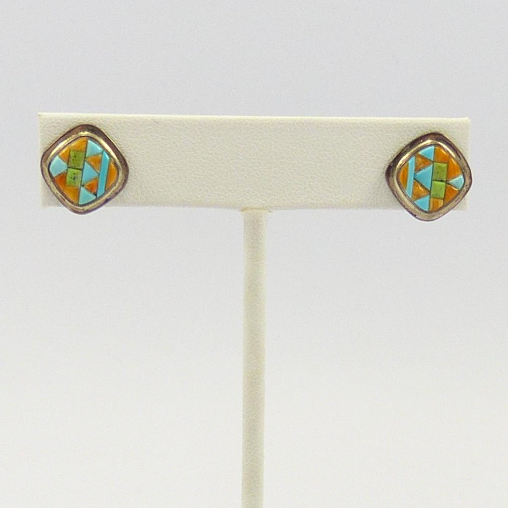 Vintage Inlaid Earrings