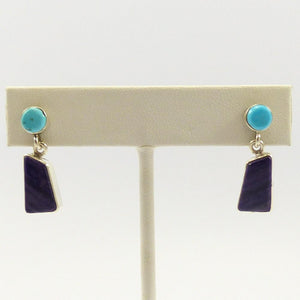 Turquosie and Sugilite Earrings