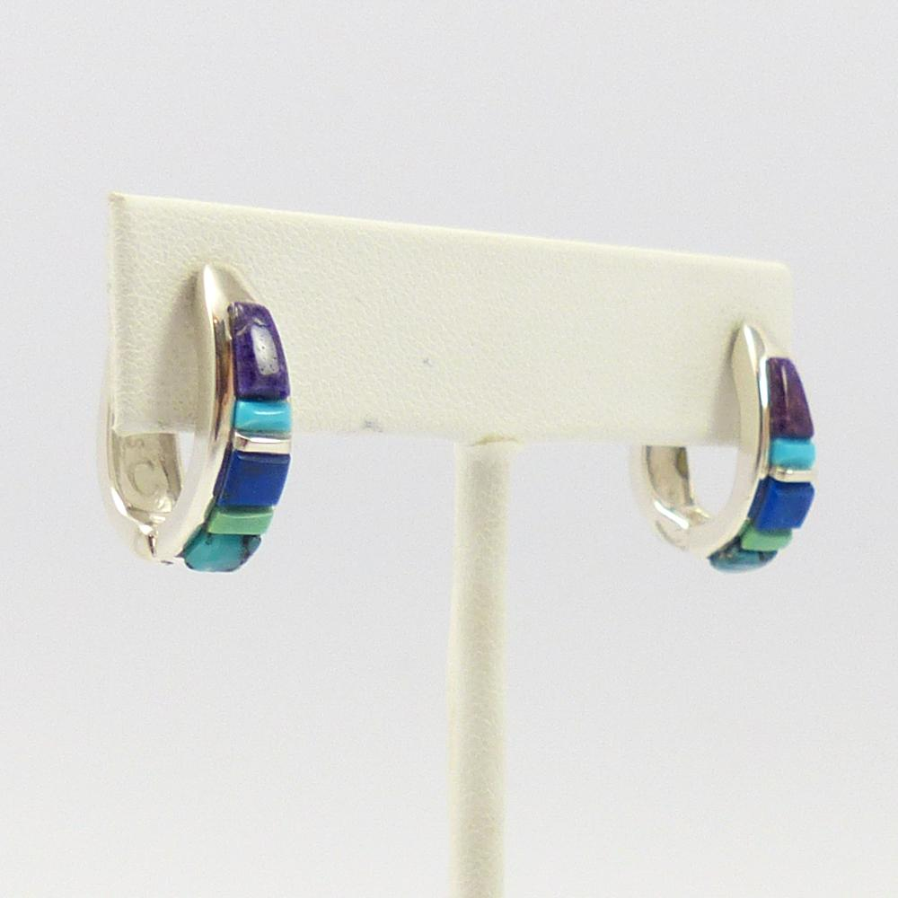 Inlay Huggie Earrings