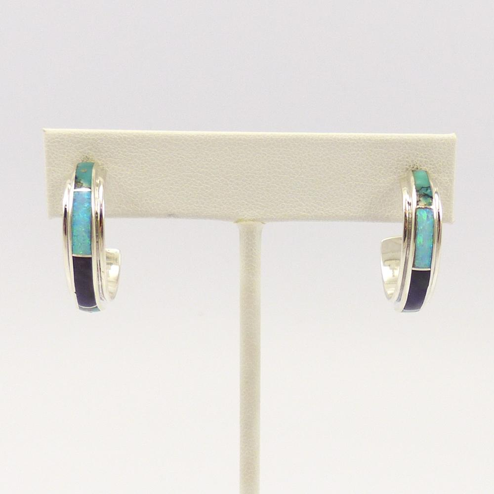 Inlay Hoop Earrings