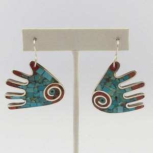 Inlay Hand Earrings