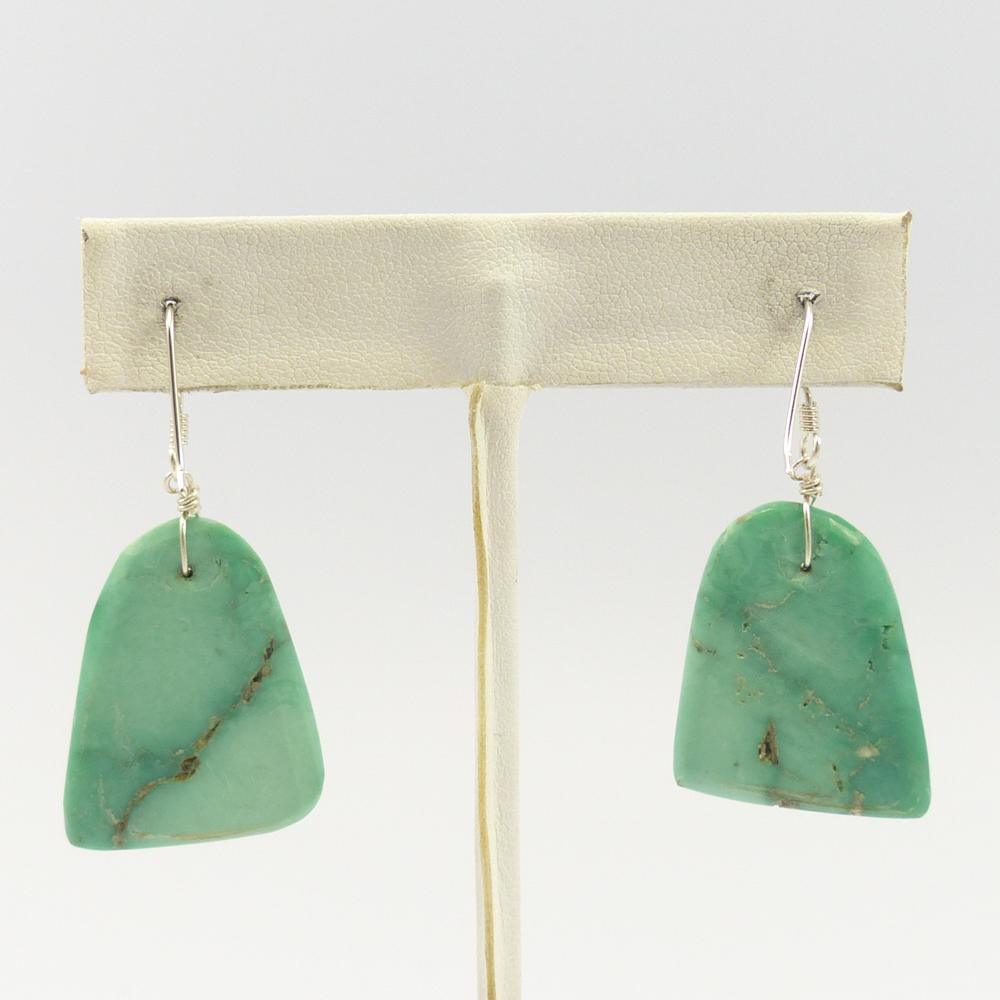 Broken Arrow Turquoise Earrings