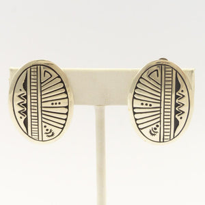 Silver Overlay Clip Earrings