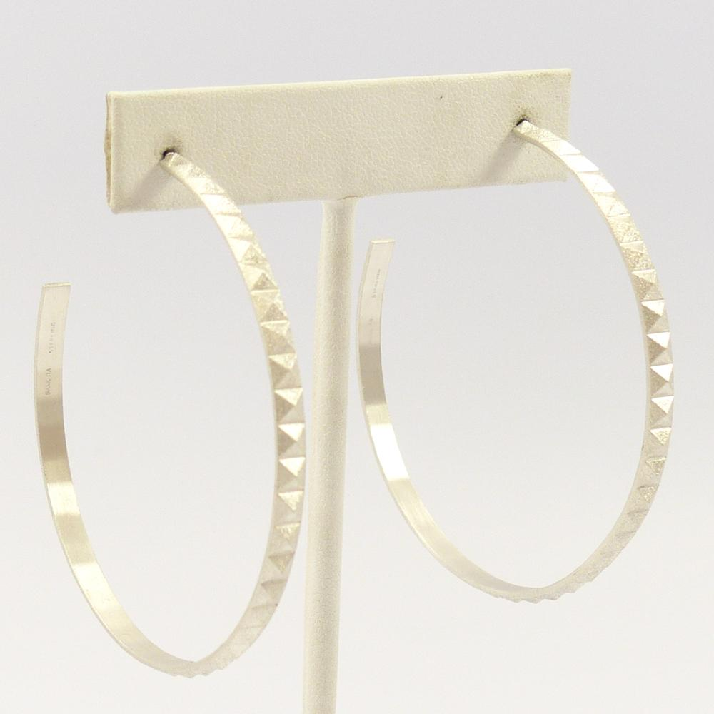 Pyramid Hoop Earrings