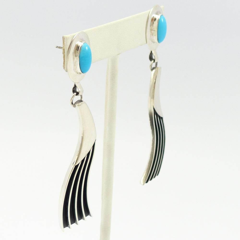 Turquoise Wave Earrings
