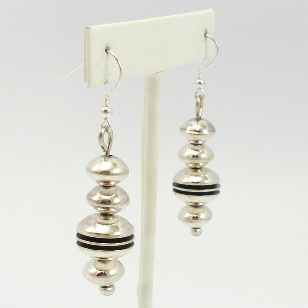 Silver Bead Earrings