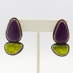 Alanite and Gaspeite Earrings