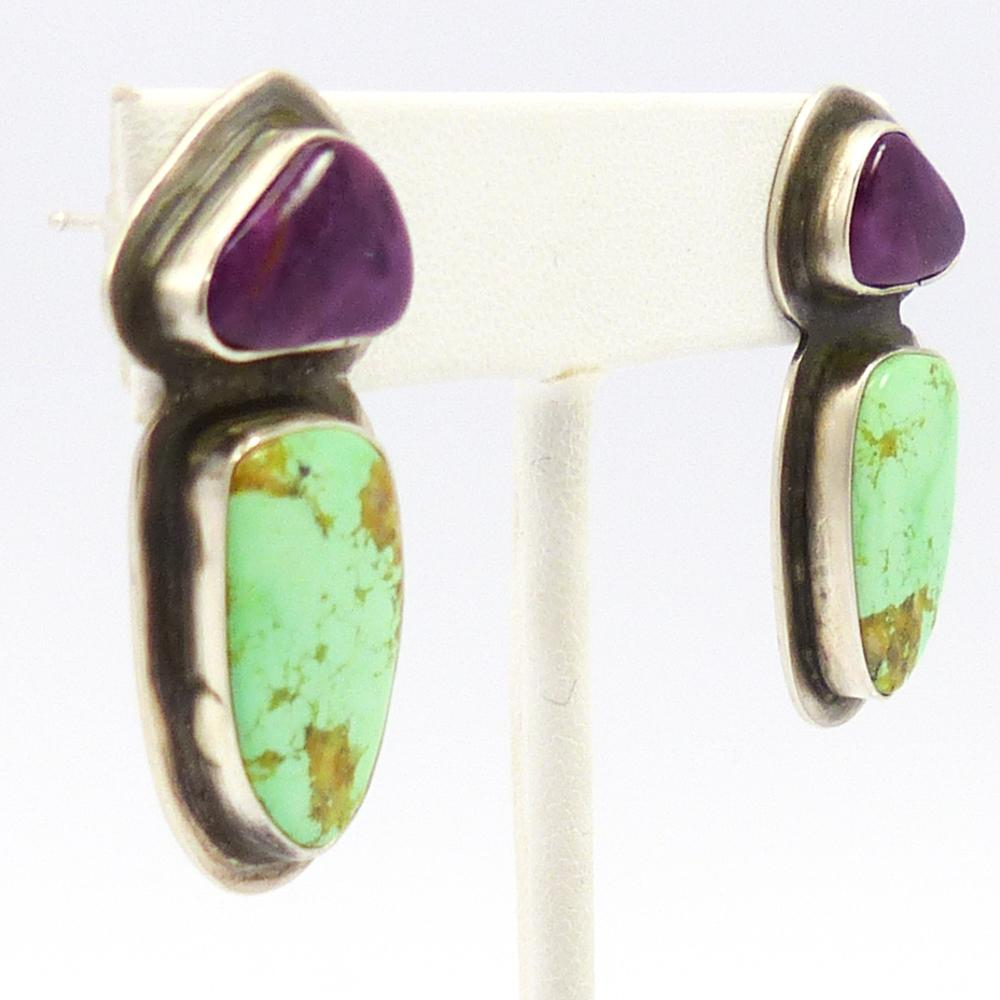 Alanite and Variscite Earrings