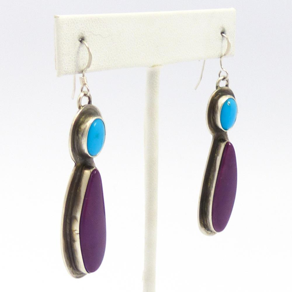 Turquoise and Alanite Earrings