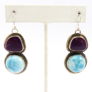 Alanite and Larimar Earrings