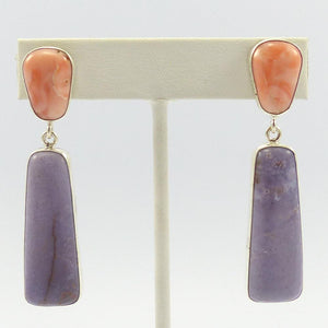Angel Coral and Chalcedony Earrings