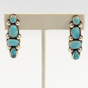 Lone Mountain Turquoise Earrings