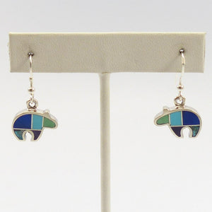 Bear Inlay Earrings