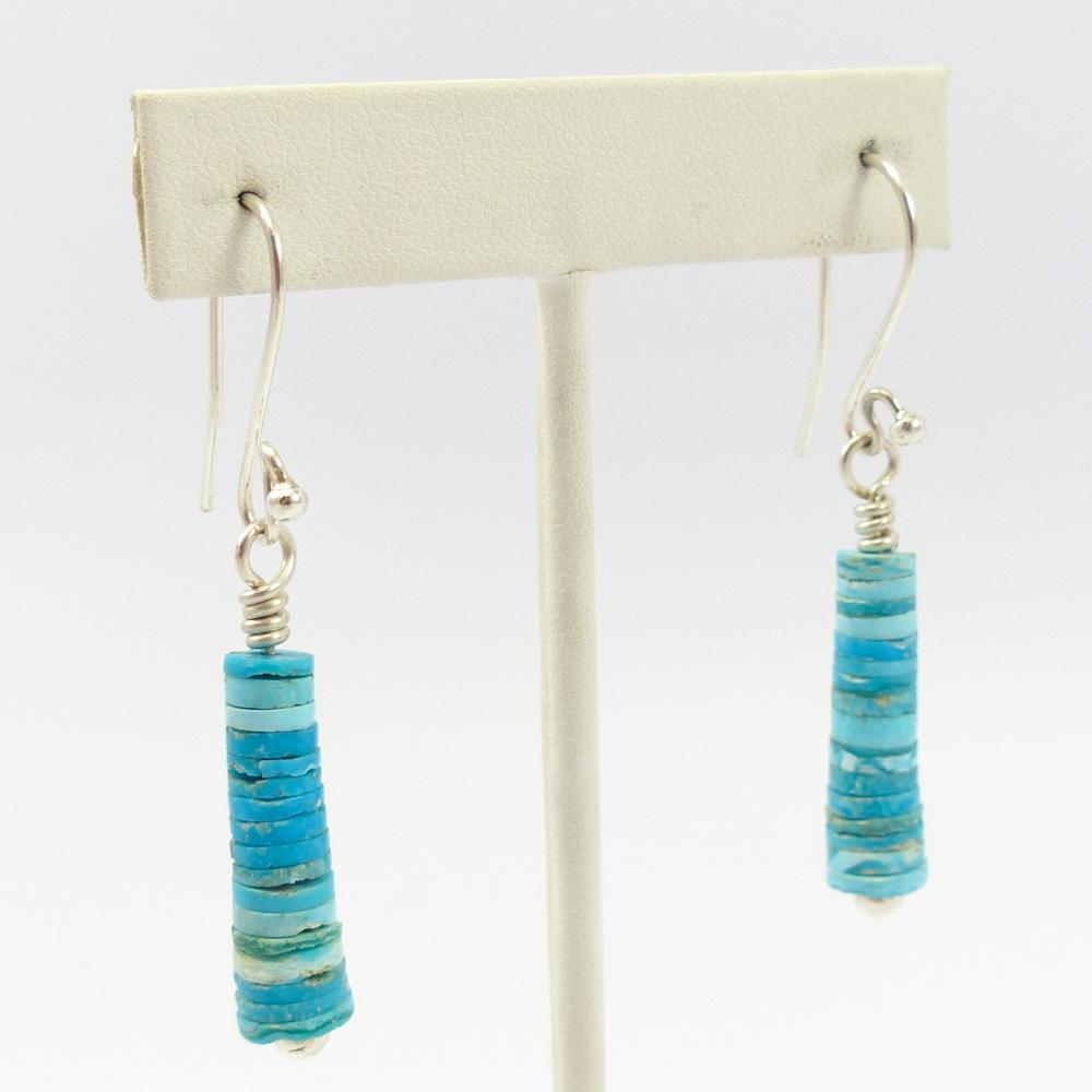 Kingman Turquoise Bead Earrings