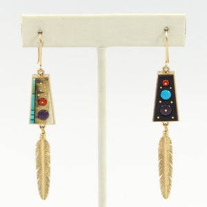 Gold Inlay Earrings