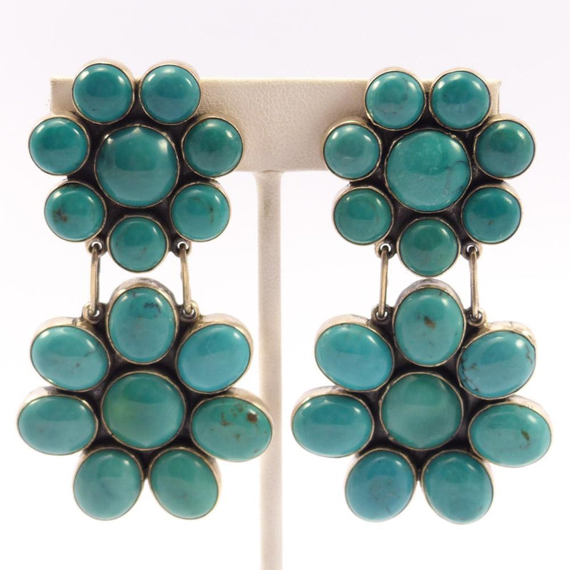 Clip Turquoise Earrings