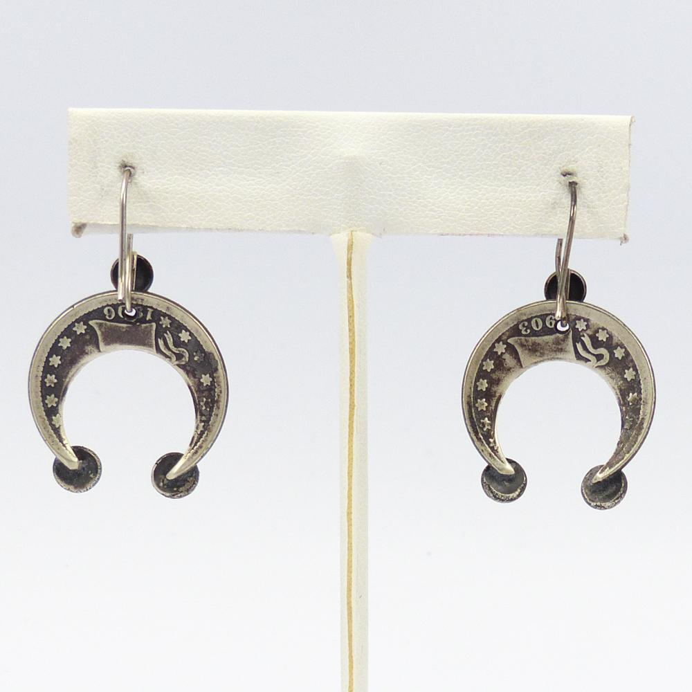 Barber Silver Quarter Earrings