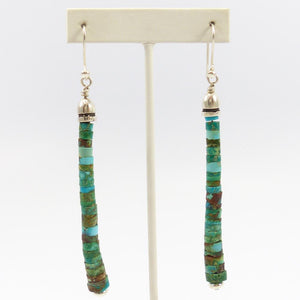 Blue Gem Turquoise Bead Earrings