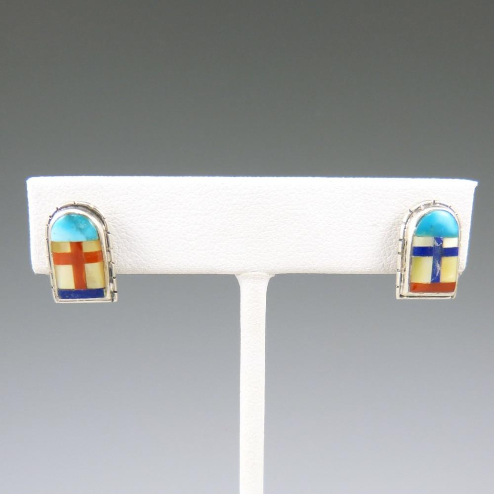 """Tibetan Door"" Earrings - Jewelry - Phil Loretto - 1"