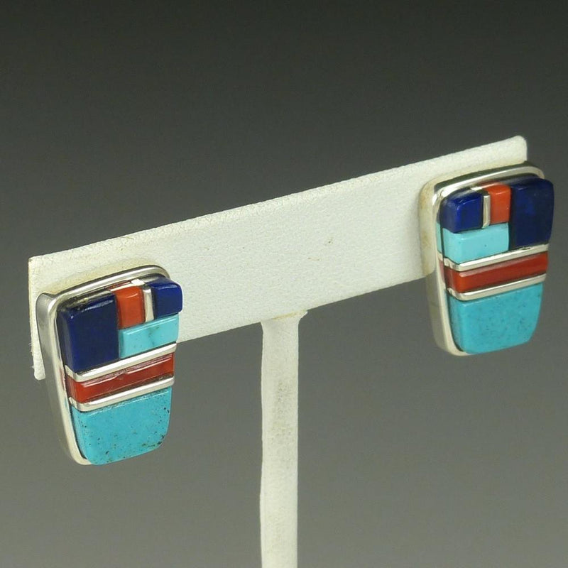 Cobbled Inlay Earrings - Jewelry - Sherian Honhongva - 2