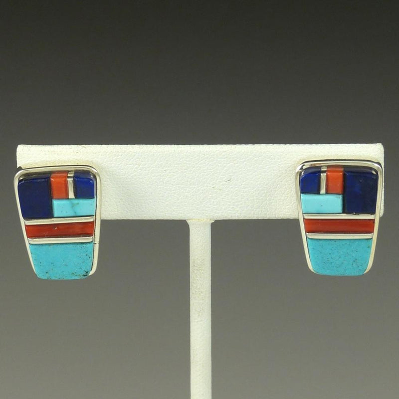 Cobbled Inlay Earrings - Jewelry - Sherian Honhongva - 1