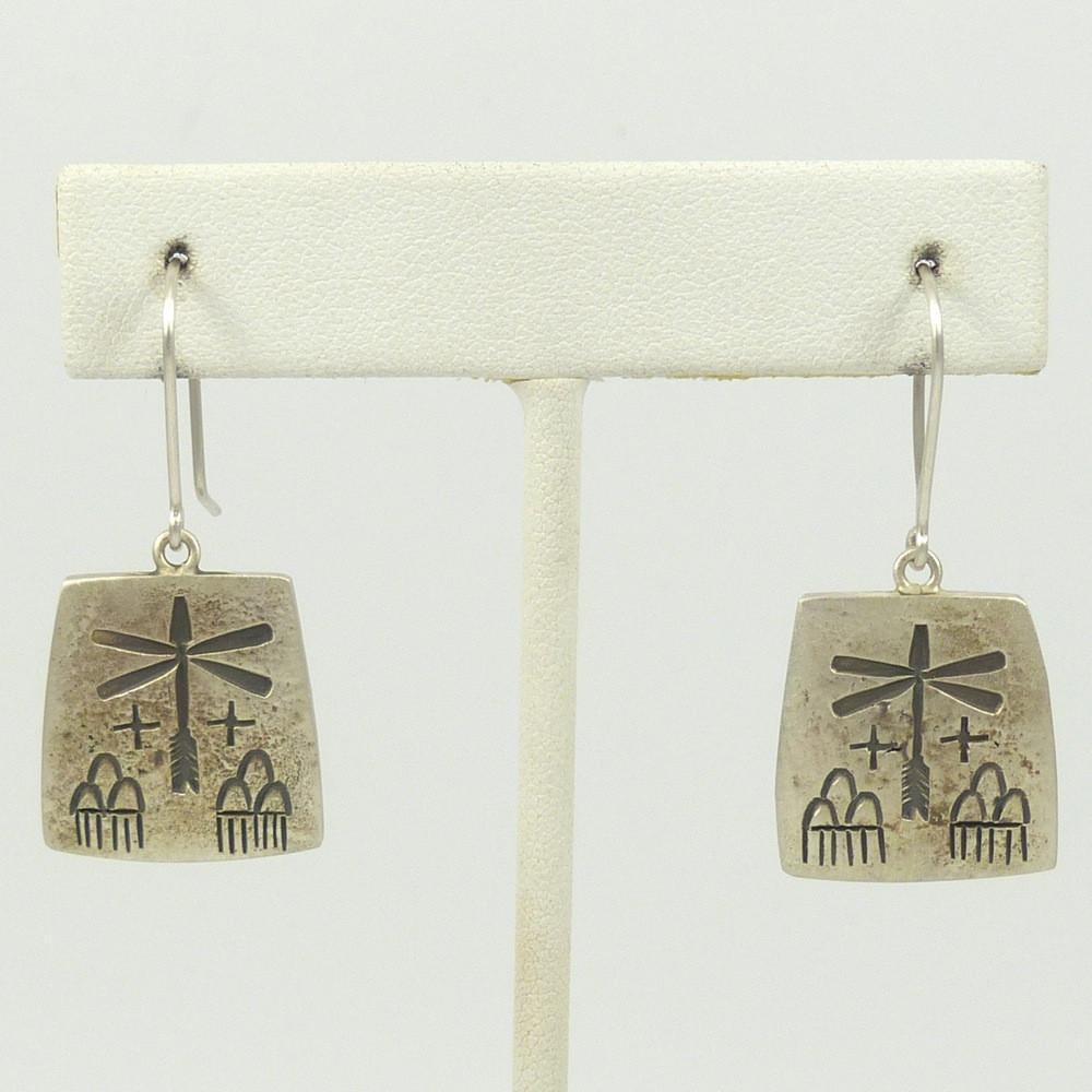 Dragonfly and Clouds Earrings - Jewelry - Myron Panteah - 1