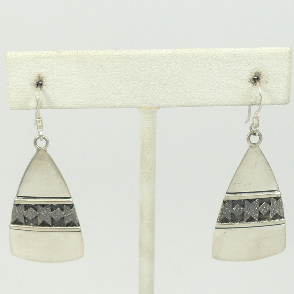 Textured Sterling Silver Earrings - Jewelry - Al Joe